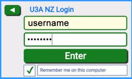 Login to Local U3A